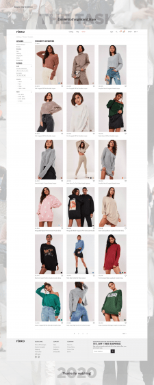 Catalog of the Online store of Branded clothing