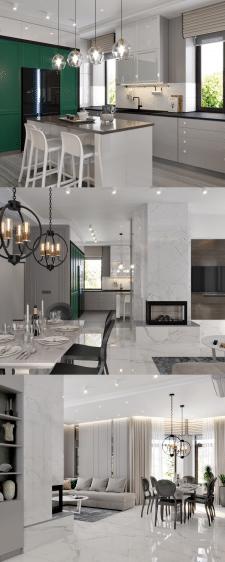 Дизайн дома в современной класике