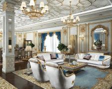 Гостиная в дворцовом стиле.