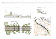 Проектное решение лестницы на сложном рельефе
