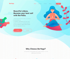 Адаптивная вёрстка Landing Page с parallax