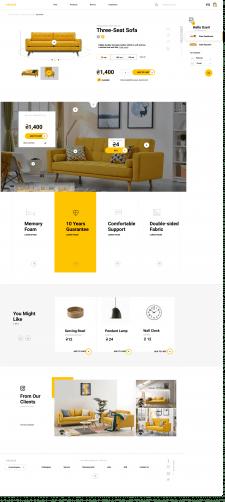 Сайт для мебели и товаров для дома