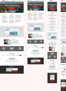 Дизайн страницы сайта Digital агенства