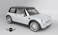 3d model studio mini cooper