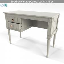 Bourbon Vintage Compact Desk, Grey