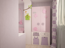 Комната для родителей и ребенка.