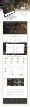 Дизайн для главной страницы сайта такси