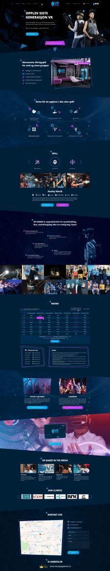 Дизайн сайта VR games и разработка логотипа