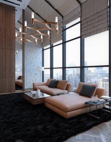 3d визуализация комнаты отдыха / офис