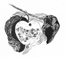 Черно-белая иллюстрация