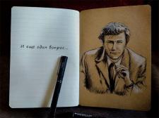 Зарисовка в блокноте