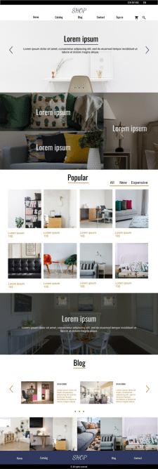 Дизайн сайта для магазина мебели