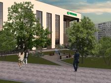 Визуализация здания Сбербанка (дневное время)