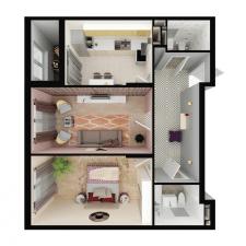 Моделоирование и визуализация. 3Д-план. Квартира