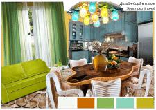Дизайн-борд кухни в стиле Электика