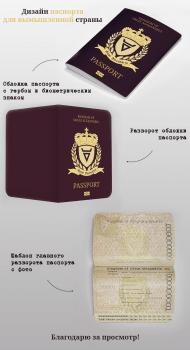 Дизайн паспорта вымышленной страны