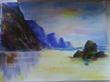 Море, акварель