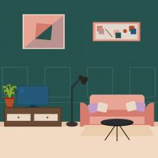 Илюстрация.  Дизайн лялькового будиночка