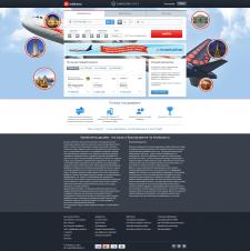 Дизайн сайта aviakassa.ru (авиа билеты)