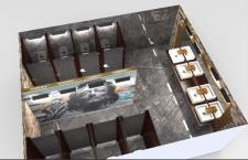 концепт интерьера общественного туалета