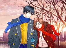 Парень и девушка в стиле Аниме.