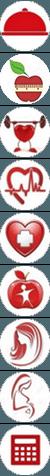Иконки на сайт здоровья и похудения