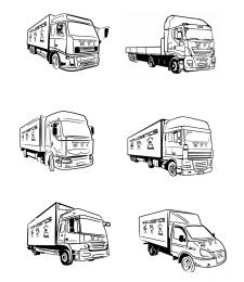 Иллюстрации машин в векторе