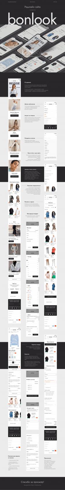 E-commerce проект магазина женской одежды