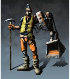 Cyberpunk digger Valera
