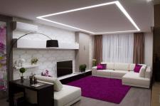Cтильный интерьер  для  девушки   S 80 m2