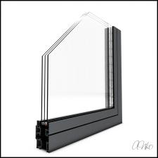Окна из алюминия [разрез]
