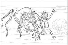Rick & Morty (розмальовка ІІІ)