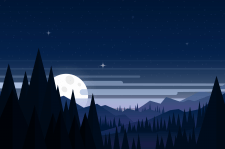 Иллюстрация Тихая ночь