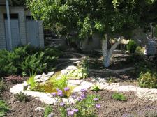 Благоустройство двора дачи ,с устройством водоема.