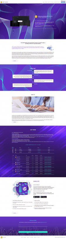 Landing page for cryptocurrency