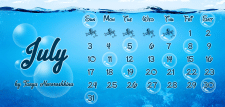 Календарь на июль месяц. Calendar on July, 2016
