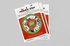 Рекламные листовки для компании DOMESTIC STAFF