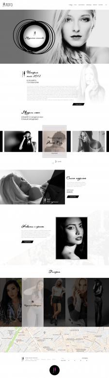 Дизайн сайта модельного агентства