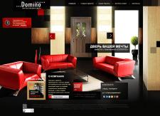 """Дизайн сайта по продаже входных дверей """"Domino"""""""