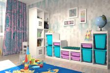 Визуализация детской комнаты 3