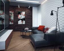 Эскиз дизайна гостиной