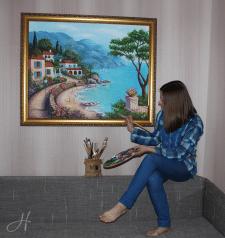 Картина маслом «Морской пейзаж»