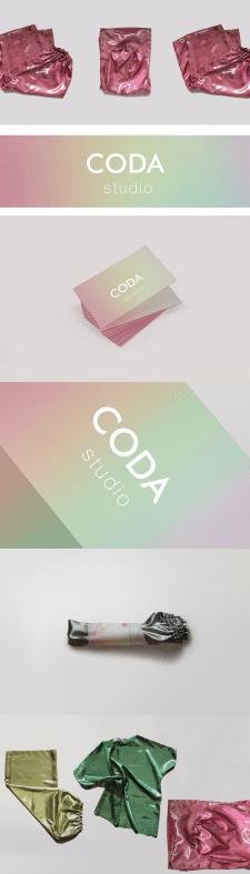 Визитные карточки (визитки) для CODA studio