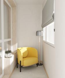 Дизайн балкона ,3д модел-ние и виз-ция.