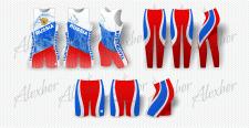 Принты на спортивные костюмы гребцов
