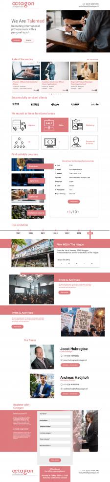 Дизайн сайта рекрутинговой компании