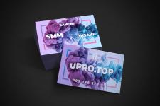 Дизайн визиток для UPRO.TOP