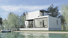 Дом у озера (архитектура и визуализация)