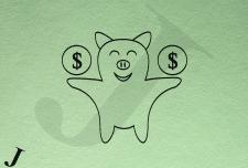 Лого со свинкой-копилкой