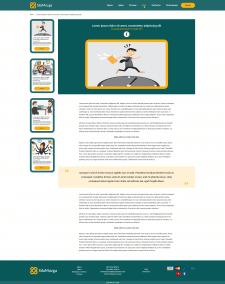 Редизайн страницы - статьи блога сайта Сила Мозга